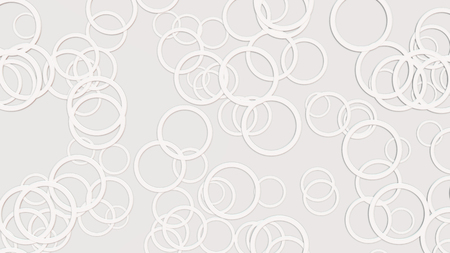 grey backgrounds: one abstract background made with white circles Stock Photo