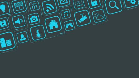 icons about smart home and internet of things concepts, copy space