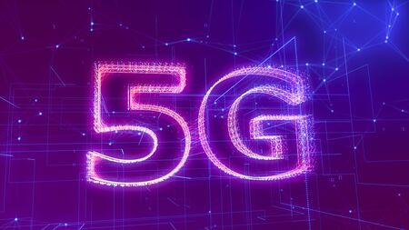 5G  with binary numbers, abstract network