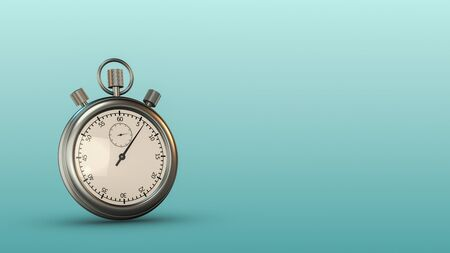 analog stopwatch with copy space (3d render)