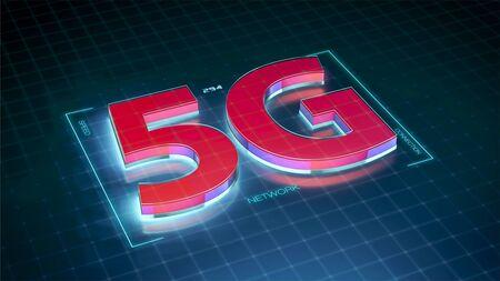 concept of new technology 5g network (3d render)