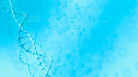 background animation, science, biology and scientific research concept, copy space (3d render)