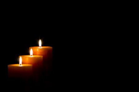 night: candles for christmas night