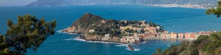 ble: panoramic view of sestri levante baia del silenzio