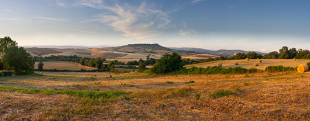 countryside panorama of tuscan maremma near saturnia italy Archivio Fotografico