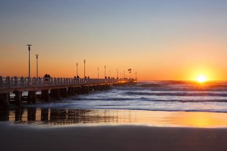 forte: Forte dei marmi pier with people admiring sunset