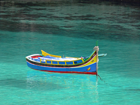 Colorful Maltese fisherman's boat