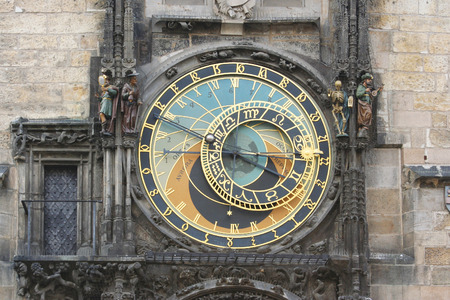astronomical: Prague astronomical clock detail of astronomical dial