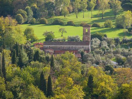 lucca: Romanesque country parish church of Saints Giovanni and Felicita Valdicastello Pietrasanta Versilia Tuscany Italy Stock Photo