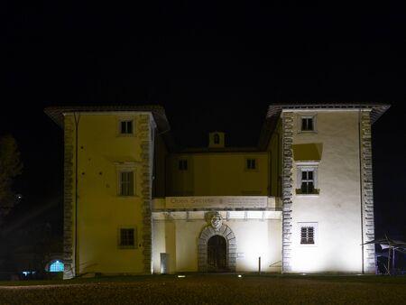 Seravezza , Italy _ September 01, 2018: night view of Palazzo Mediceo