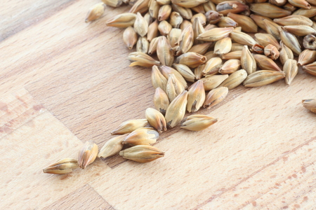 barley on a wood table