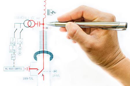 power transformer: draw electric scheme
