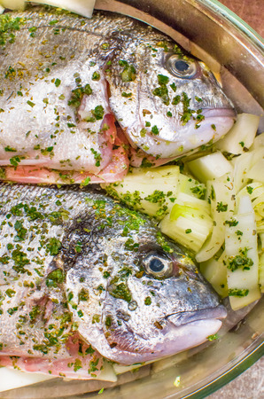sea bream: seasoning sea bream