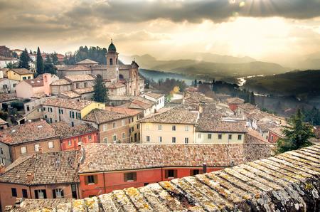 Italiaanse dorp landschap