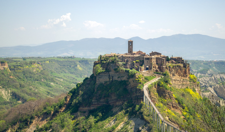 viterbo: civita di bagnoregio, alto Lazio - Italy - Viterbo - travel italy Stock Photo