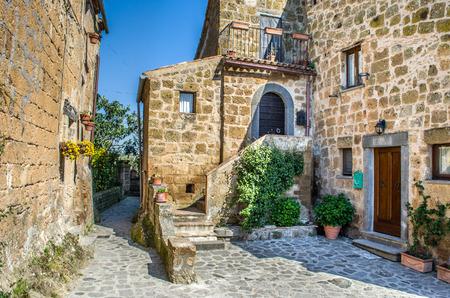 lazio: Bagnoregio italian village houses - Lazio - Italy