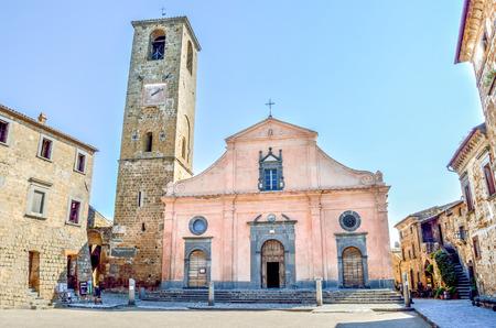 lazio: Bagnoregio church - Lazio - Italy Stock Photo