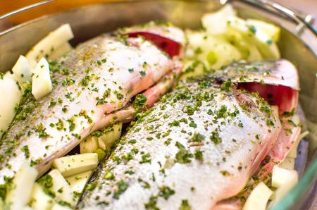 seasoning: seasoning fish closeup - cooking recipes