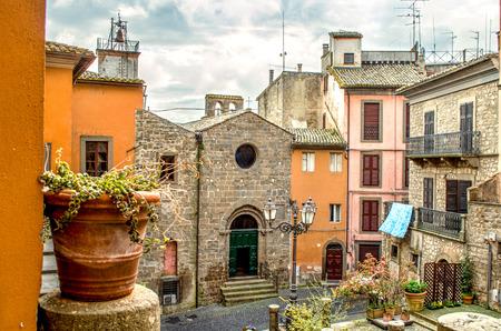 lazio: Montefiascone village steps alley - Lazio - Viterbo -  discover Italy Travels