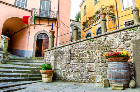 tuscia: Montefiascone village steps alley - Lazio - Viterbo -  discover Italy Travels