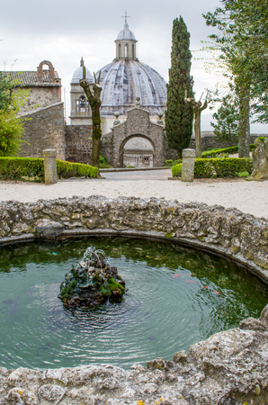 lazio: Lazio fountains - italy - Montefiascone cupola Stock Photo