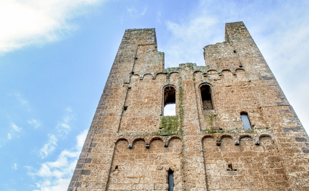 etrurian: tower ruins - Tuscania -  Viterbo - italy travel Stock Photo