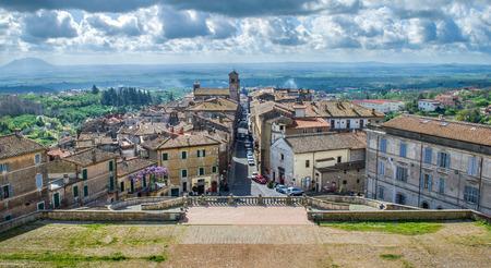 lazio: Tourists Italy - Caprarola - Viterbo - Lazio - village