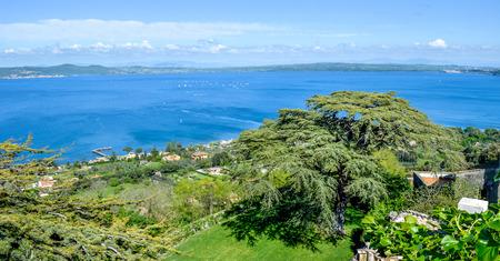Bracciano lake - Rome - Lazio - Italy travel Foto de archivo