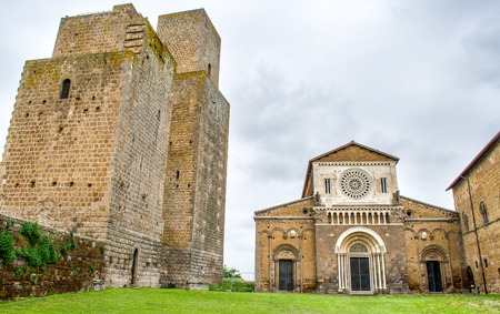 etrurian: Tuscania church towers - Viterbo - travel italy Stock Photo