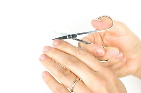 cut nails Stock Photo