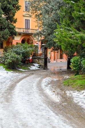 bologna: Villa Spada Bologna during winter season Editorial