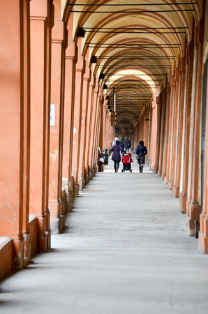archways: Archways of San Luca in Bologna