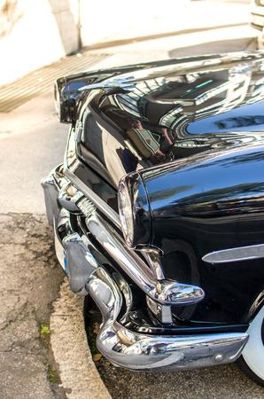 vintage car details Stock Photo