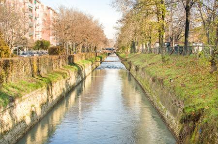 reno: suburb river canal - Bologna Reno river