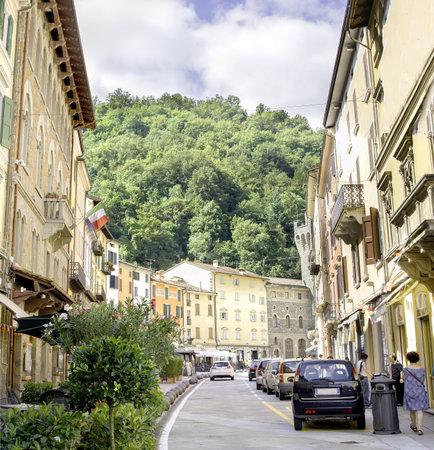 appennino: Porretta Terme - August 2, 2015 - Porretta village main street