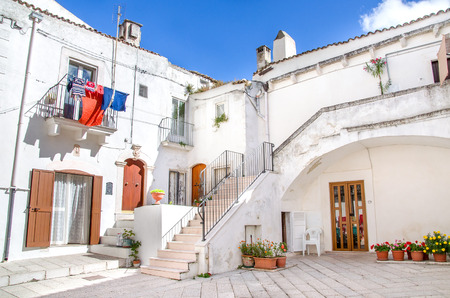 monte sant angelo: south italy white houses