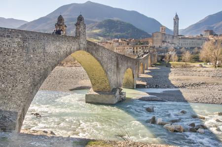 emilia: Bobbio - Val Trebbia river - Bridge - Piacenza - Emilia Romagna region - Italy