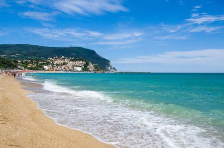 marche: The beach of Numana, Marche region - Italy.