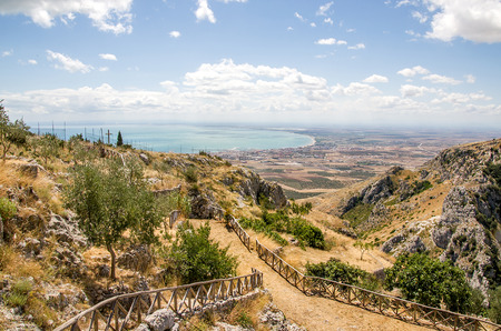 Gulf of Manfredonia - Puglia - from the Pulsano hermitage - Mount Gargano - Italy