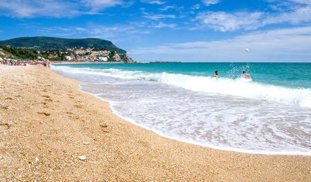 beach Numana, Marche region - Italy. Foto de archivo