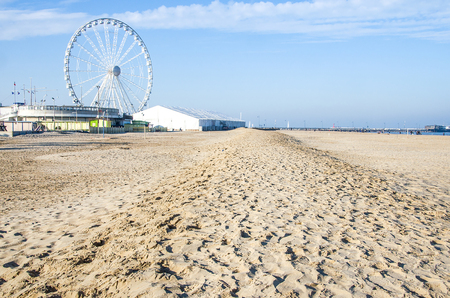 trampled: rimini empty beach winter ferris wheel sand trampled