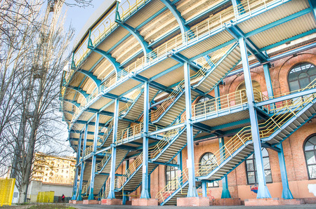 Bologna, Italy - March 7, 2015: Renato Dall Ara Stadium from outside. Редакционное