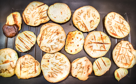 parch: eggplant slices roasted