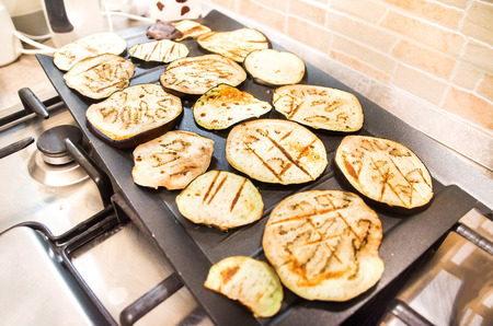 parch: grilled eggplants large black plate oven