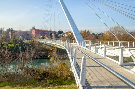 reno: BOLOGNA, Italy, footbridge of Casalecchio di Reno