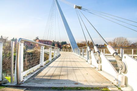 bologna: BOLOGNA, Italy, footbridge of Casalecchio di Reno