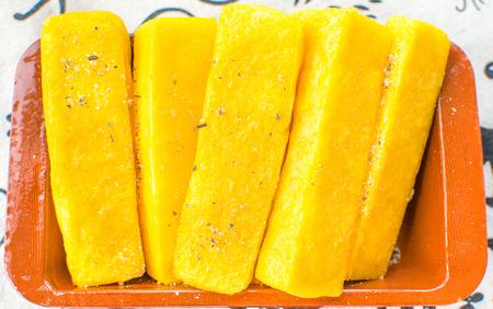 mush: cornmeal mush slices yellow polenta arrostita