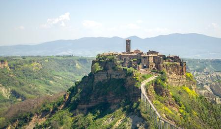 lazio: Civita di Bagnorezio - Lazio landscape - viterbo (italy) Stock Photo