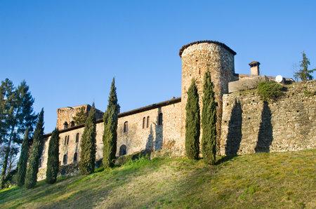 emilia: fortified walls  Rivalta Castle - Piacenza -  Emilia Romagna region, Italy