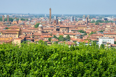 sightsee: green hedge - Bologna tour aerial view sightsee Emilia Romagna.